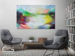 """Modern art """"Mitternachtssonne"""" von Lydia Schade Fox"""