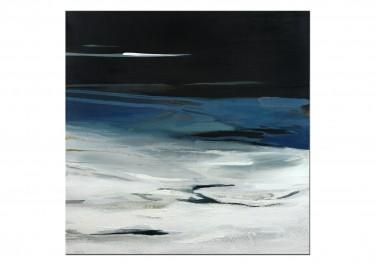 """abstrakte Landschaft """"Nachts zum Horizont blicken"""" von C. Niehoff"""