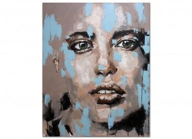 """Abstraktes Portrait """"ausdrucksvoll"""" von M. Steinacher"""