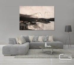 """moderne Landschaft """"Stimmungen I"""" Unikat von Conny Niehoff"""