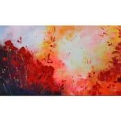 """Abstrakte Malerei """"Sunrise"""" Originalgemälde von L. Schade Fox"""