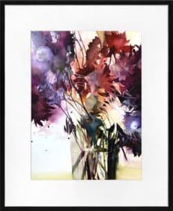 "moderne Aquarellmalerei ""Blumen Aquarell IV"" von Elke Memmler"