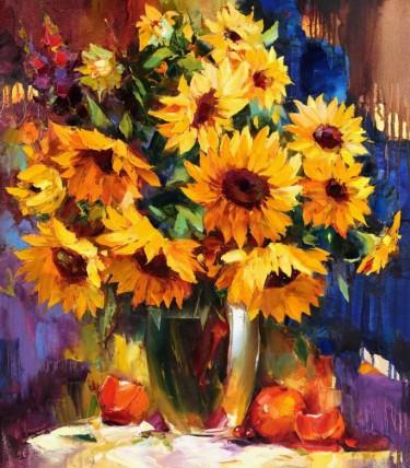 """""""Vincent Evolution II"""" - Florales Ölgemälde der ukrainischen Künstlerin Tetiana BOND"""
