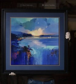 """Abstraktes Ölgemälde """"Shade of Sea"""" von Tetiana BOND"""