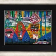 """Friedensreich Hundertwasser: """"Resurrection of Architecture"""", Kunstdruck auf Chromoluxpapier"""