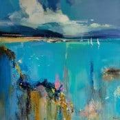 """Abstraktes Landschaftsgemälde """"The Source"""" von Tetiana BOND"""