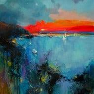 """Abstraktes Kunstwerk """"Sauvage"""", wildromantische Meerlandschaft von Tetiana BOND"""