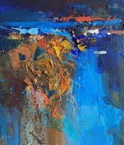 "Abstraktes Leinwandgemälde ""Manifesto of Freedom"" von Tetiana BOND"