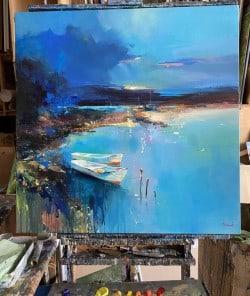 """Abstrakte Ölmalerei """"D'amour Eau"""" von Tetiana BOND"""