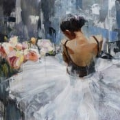 """""""Memories last forever"""" - Abstraktes Ölgemälde einer Ballerina von Tetiana BOND"""