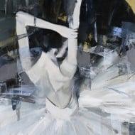 """""""La Peregrina"""" - Abstrakte Ölmalerei einer Ballerina von Tetiana BOND"""