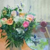 "Acryl Bild ""Blumen Strauß"""