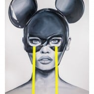 "Acrylmalerei ""Pseudo Mickey Mouse"" (2019) von Edyta Grzyb als Fine-Art-Pigmentdruck"