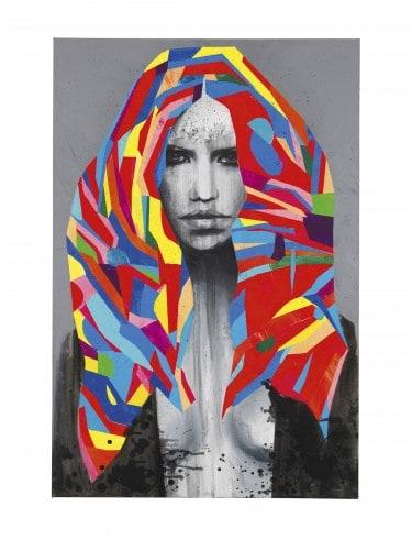 """Acrylbild """"Dirty Diana"""" (2015) von Edyta Grzyb - Limitierter Fine-Art-Pigmentdruck auf Hahnemühle"""