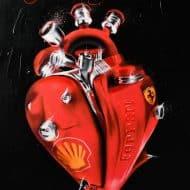 "Giclée Kunstdruck ""The Heart of the Scuderia Ferrari"" (2020) von Daria Kolosova"