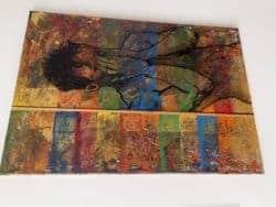 """Modernes Originalkunstwerk - abstrahierte Emotionen """"Was vom Tage übrig blieb"""" Maße: 70 x 100 cm"""