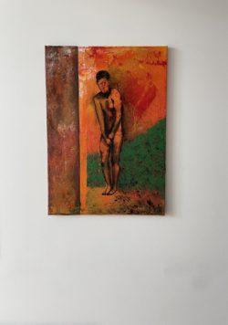 """Modernes Originalkunstwerk – """"Außerhalb"""" Maße: 50 x 70 cm"""