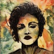 "Modernes Originalkunstwerk – ""Material Girl - Madame Ciccione"" Maße: 30 x 50 cm"