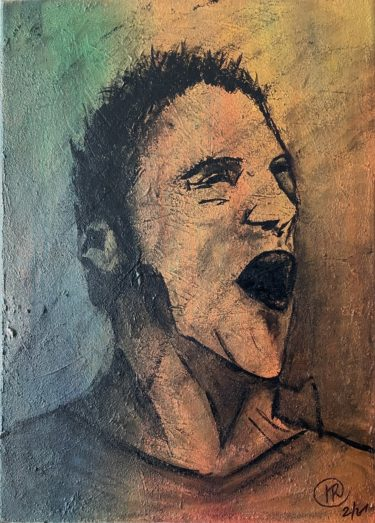 Original, Acryl auf Leinwand, ungerahmt, 2021, 50x70 cm, Unikat