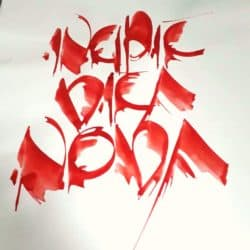 Werke der Schriftkünstlerin Renate Fuhrmann: freie interpretatorische Gestaltung