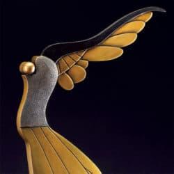 """Bronzeskulptur von Paul Wunderlich """"Victoria"""" (2008) Handgefertigt"""