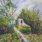 Acrylbild Landschaftsdarstellung