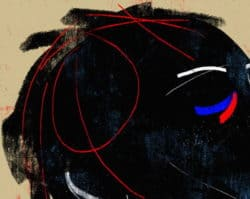 """Ethnic #14"" – Figurativer Kunstdruck (streng limitiert) des brasilianischen Künstlers Luciano Cian"
