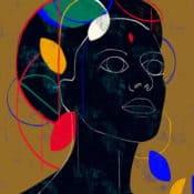 """""""Geo #9"""" – Figurativer Kunstdruck (streng limitiert) des brasilianischen Künstlers Luciano Cian"""