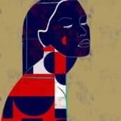 """""""Ville #2"""" – Limitierter Kunstdruck eines Frauenportraits des brasilianischen Künstlers Luciano Cian"""