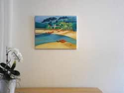 Moderne Kunst, expressive Ölmalerei, Bretagne
