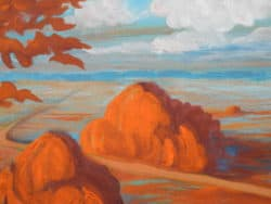 """Moderne Kunst, """"Blick ins Moor"""", signiertes Original"""