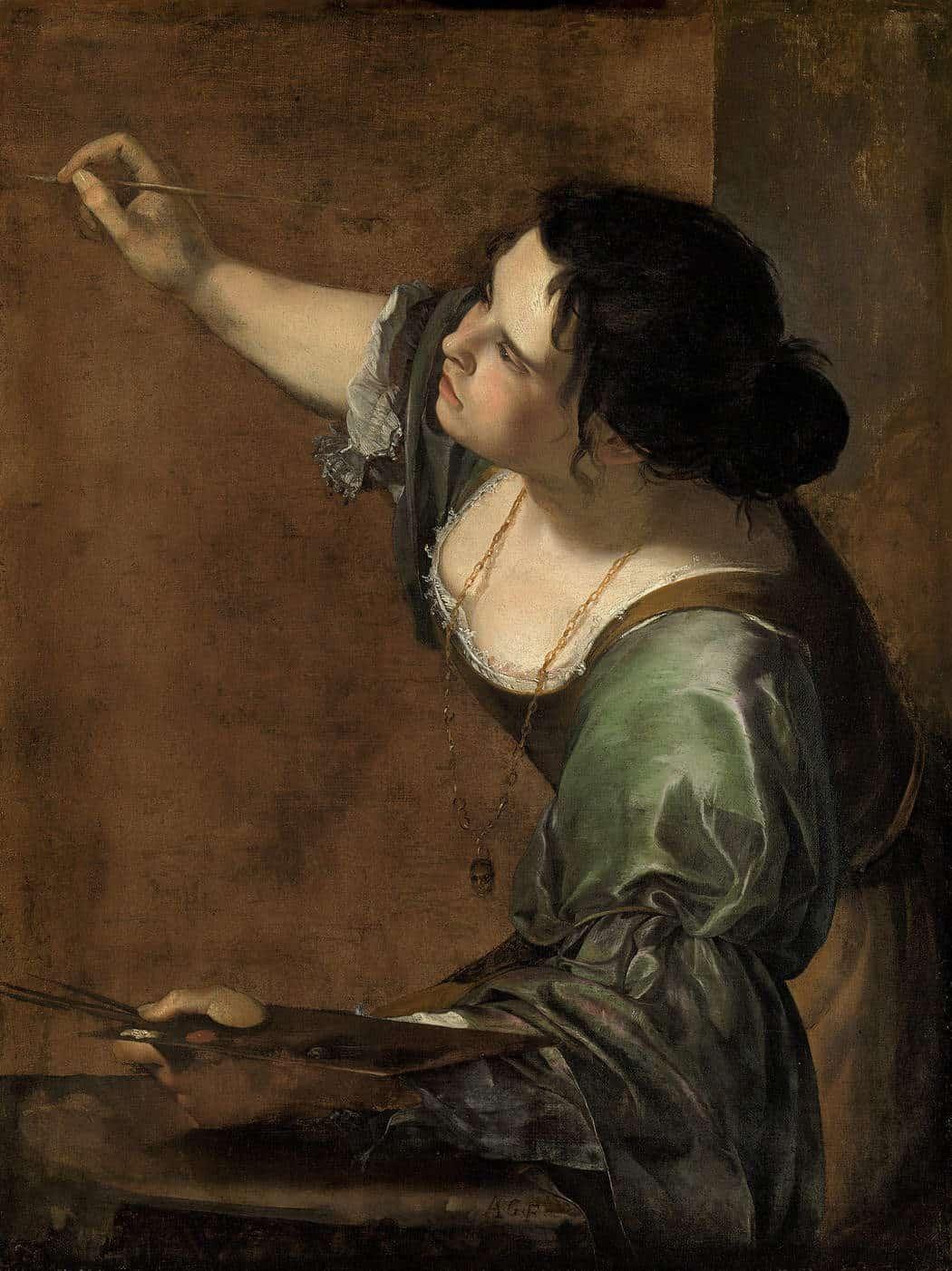 Artemisia Gentileschi - Selbstporträt als Allegorie der Malerei (1638/1639)
