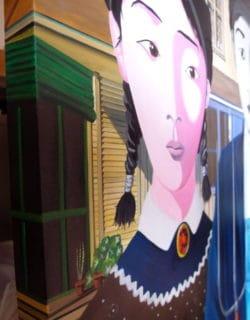"""China gothic Painting"" - Öl auf Leinwand. Unikat von Trevisan Carlo"