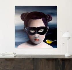 """The black mask Painting"" - Öl auf Leinwand von Trevisan Carlo"