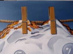 """""""Washed egg Painting"""" - Surrealistisches Bild von Trevisan Carlo, Öl auf Leinwand"""