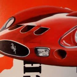 """""""Ferrari Painting"""" - Wirtschaftskritisches Kunstwerk des italienischen Malers Trevisan Carlo"""