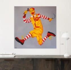 """""""McMao Painting"""" - Pop Art Gemälde zum Chinesischen Komsumismus, von Trevisan Carlo"""
