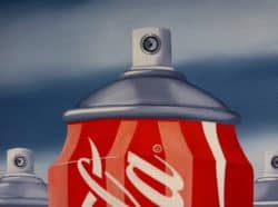 """""""Coca Cola Spray"""" - Pop Art Kunstwerk von Trevisan Carlo"""