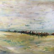 am Horizont - eine abstrahierte Landschaft von Ulrike Sallós-Sohns