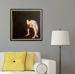 """Fotorealistisches Kunstwerk """"Portrait-I"""" von Stanislav Bojankov, Tempera auf Holz"""