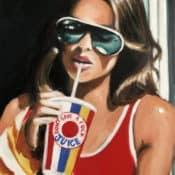 """Fotorealistisches Portraitgemälde """"The Juice"""" von Maria Folger, Acryl auf Leinwand"""