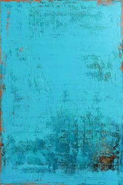 "Abstraktes Acrylgemälde ""Caribbean Mood"" von Inez Froehlich, Acryl auf Leinwand"