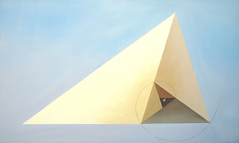 Irene Schramm-Biermann. Dreiecke im Goldenen Schnitt