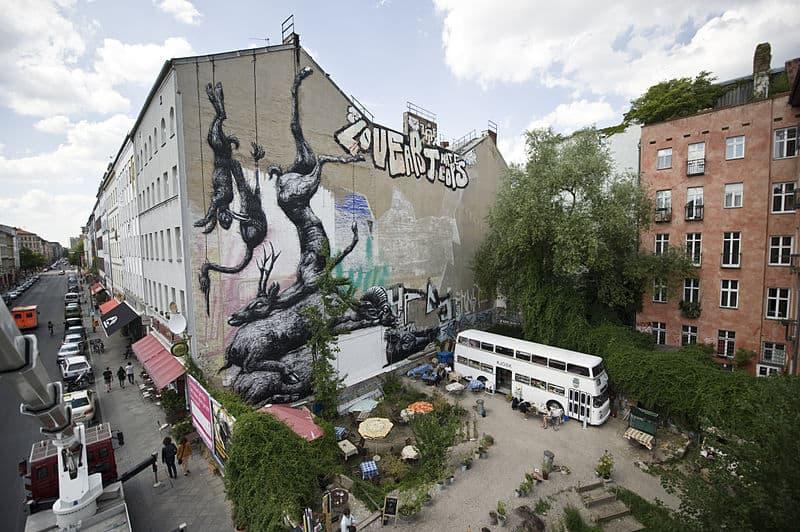 ROA Mural in Berlin-Kreuzberg