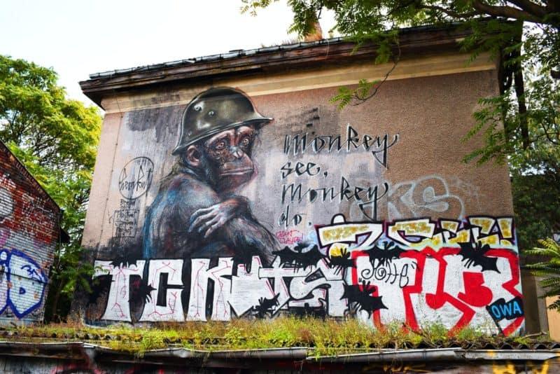 Großformatiges Mural in Alt-Stralau, Berlin