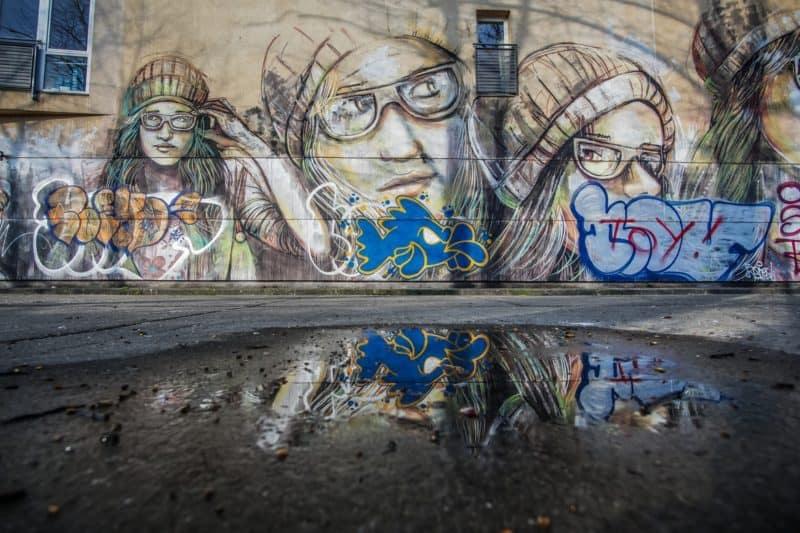 Mural Art an der East Side Gallery (Berlin)