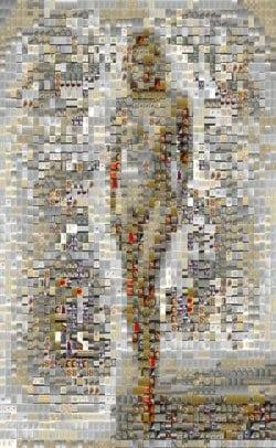 "Mosaikbild ""Mädchen 003"" von Ali Yünlü"