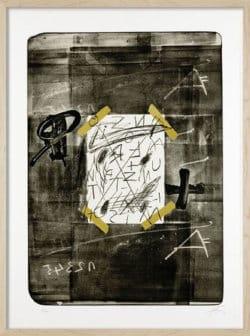 """""""Scotch"""" - Limitierter Kunstdruck von Antoni Tàpies"""