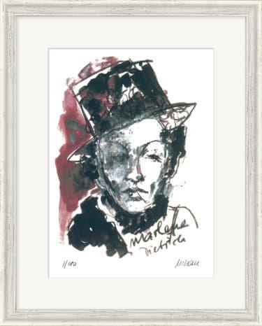 """""""Marlene Dietrich"""" - Limitierte Farblithografie von Armin Mueller-Stahl"""
