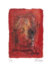 """Druckgrafik """"Johann Wolfgang von Goethe"""" von Armin Mueller-Stahl"""